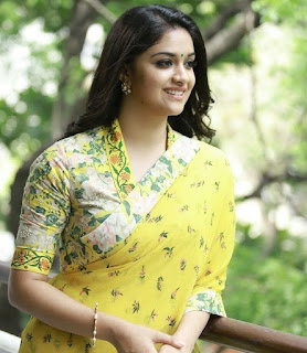 Keerthy Suresh in Yellow Saree with Cute and Awesome Lovely Smile for Promotions 1