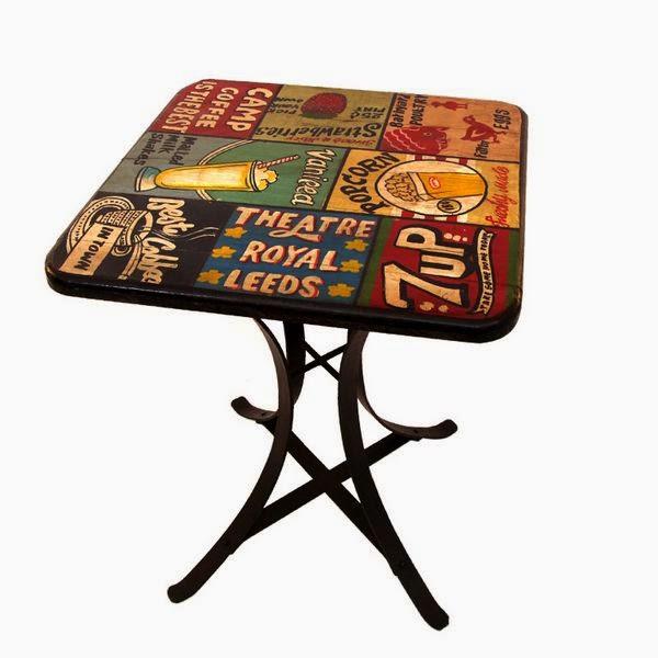 mesa decoracion retro