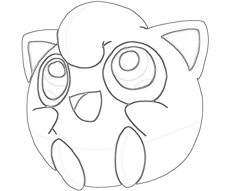 Jigglypuff singing jozztweet for Jigglypuff coloring page