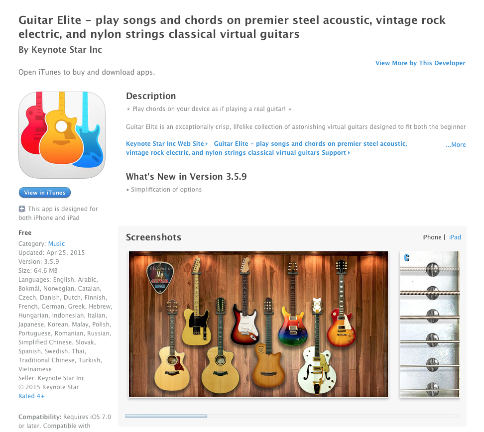 UCET Free iOS App Today: Guitar Elite - play songs and