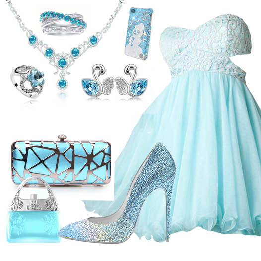 Sweet Light Blue Sweetheart Short Prom Dress