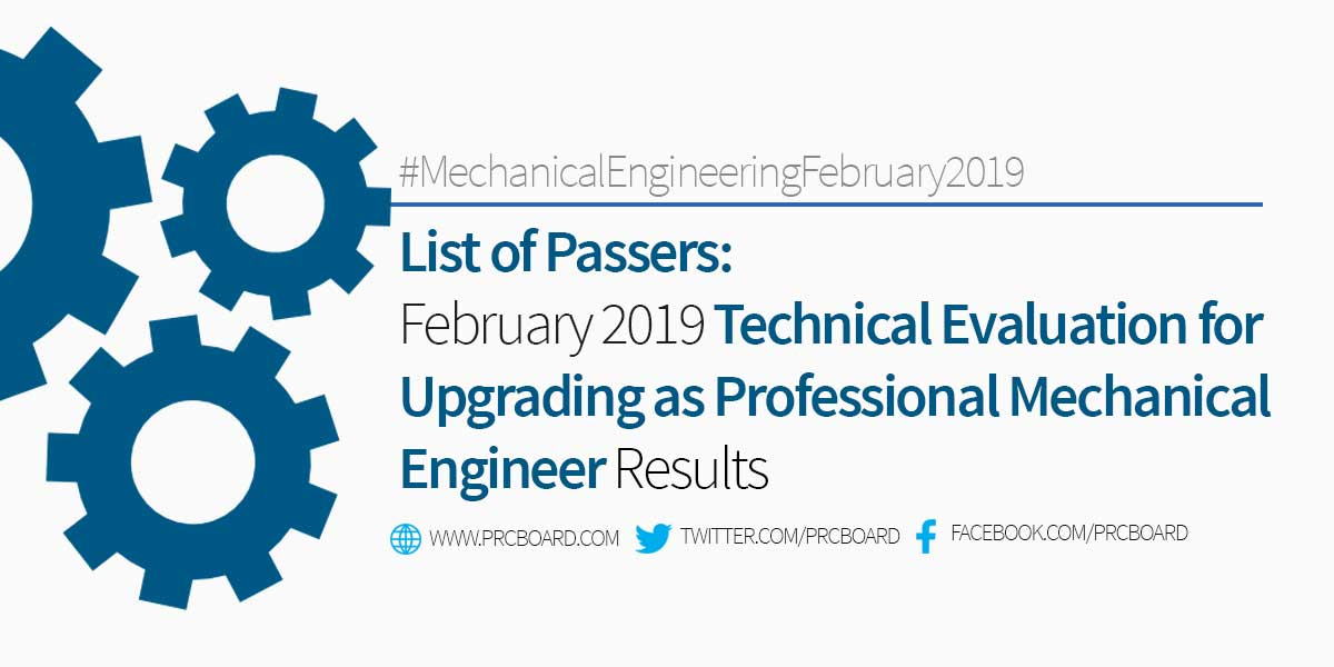 PME RESULTS February 2019 Technical Evaluation for Upgrading as