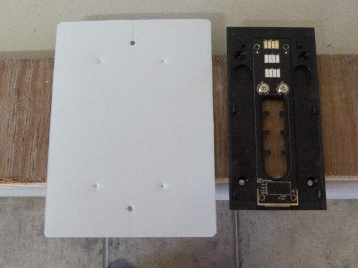 hight resolution of aluminum sheet cover plate with 2 holes drilled for installing on the nutone installation box