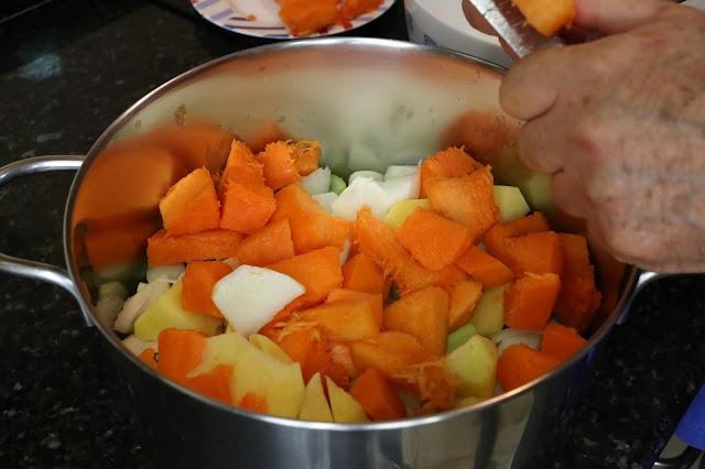 Preparación de puré o crema de verduras