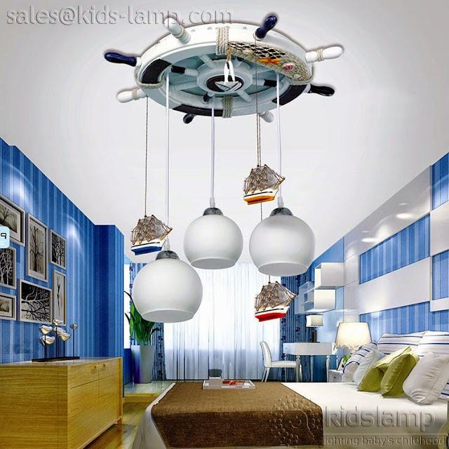 Lights Rudder Kids Bedroom Pendant