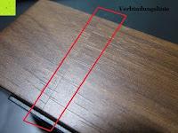 Linie: kwmobile Wecker Digital Uhr aus Holz mit Geräuschaktivierung, Temperaturanzeige und Tastaktivierung