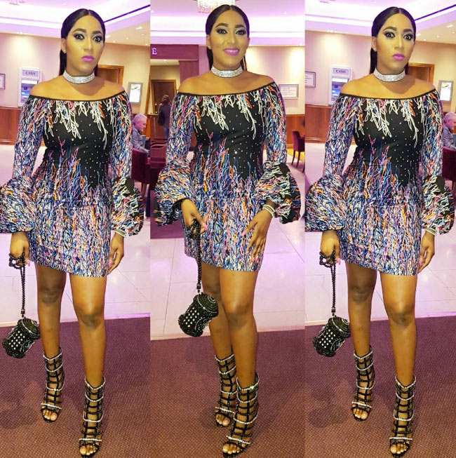 Rukky Sanda steps out in gorgeous mini dress and sandals