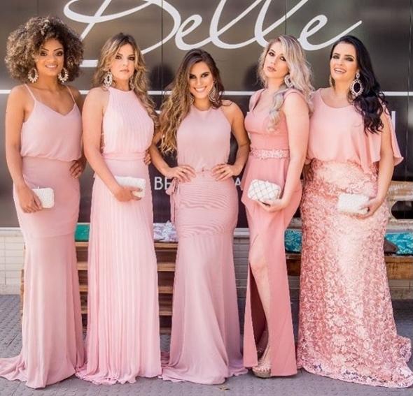 paleta madrinhas vestido rosa