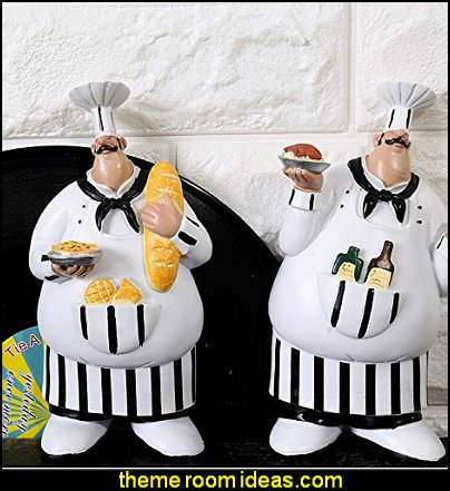 Chef Figurines Kitchen Decor Adorable Cooking Fat Chef Wall Art Hanging Sign Kitchen Wall Sign Plaque