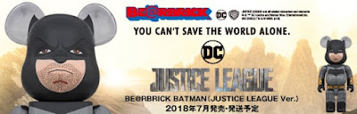 Justice League Movie Batman Be@rbrick Vinyl Figures by Medicom Toy