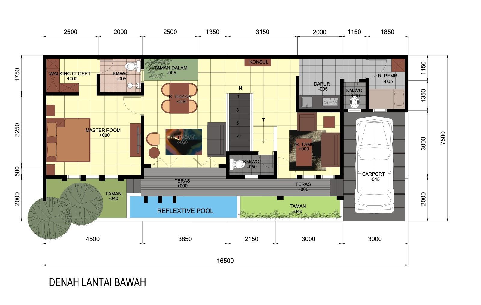 IDEsign arsitektur Rumah dengan Lahan Melebar