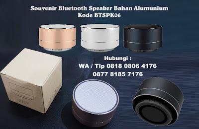 Jual Souvenir Bluetooth Speaker Bahan Alumunium Kode BTSPK06