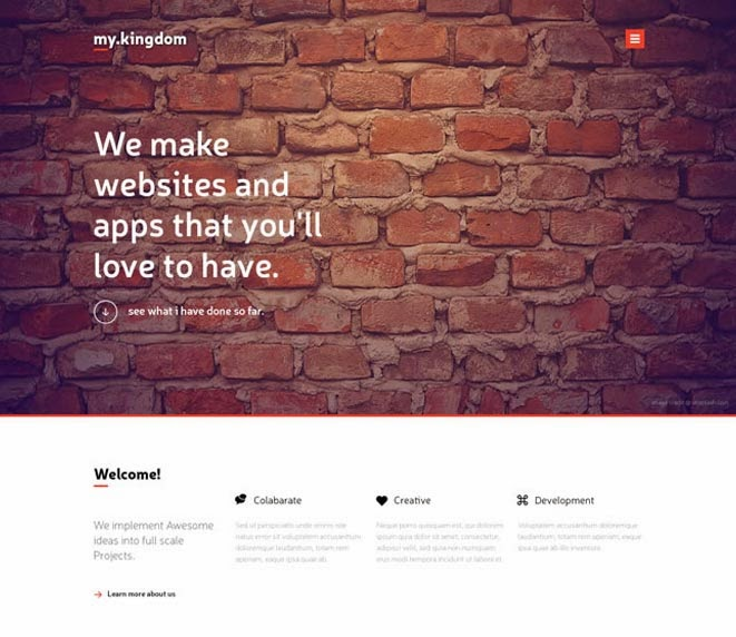 My kingdom - One Page PSD Template