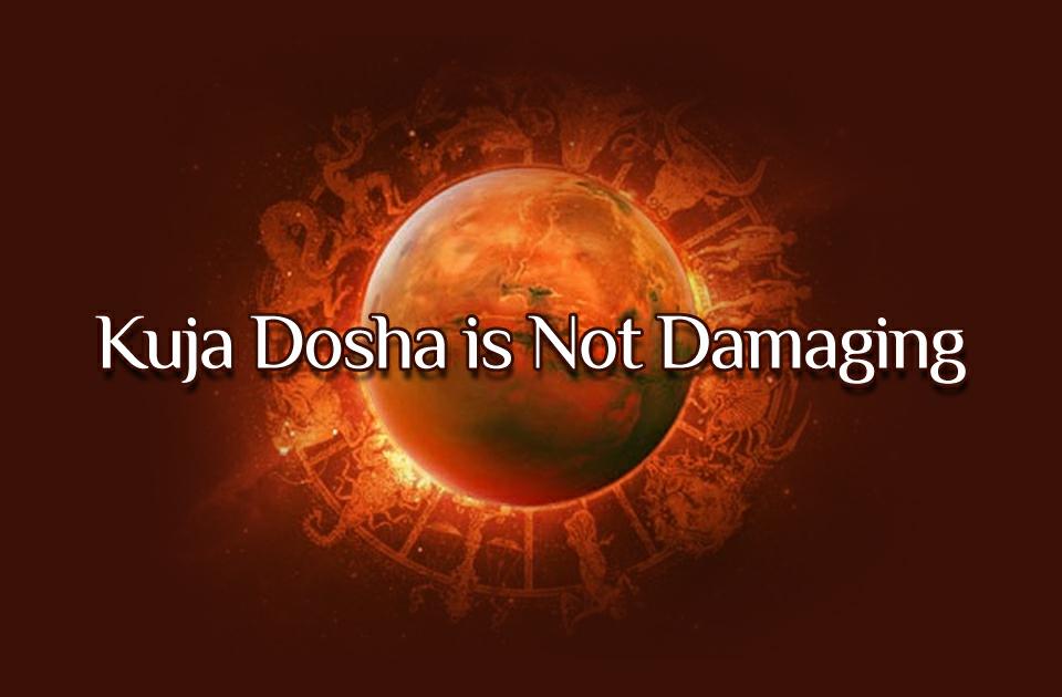 Kuja Dosha is Not Damaging