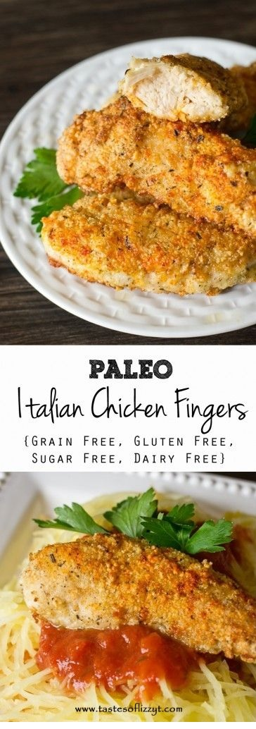 Italian Paleo Chicken Fingers