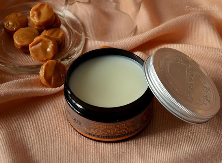 Rytuał Kaszmirowy Organique  - Balsam do ciała z masłem Shea słodkim karmelem pachnący!