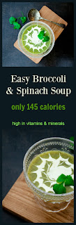 An easy broccoli and spinach soup. High in vitamins and nutrients but cheap to make. Only 145 calories and 38p per serving.