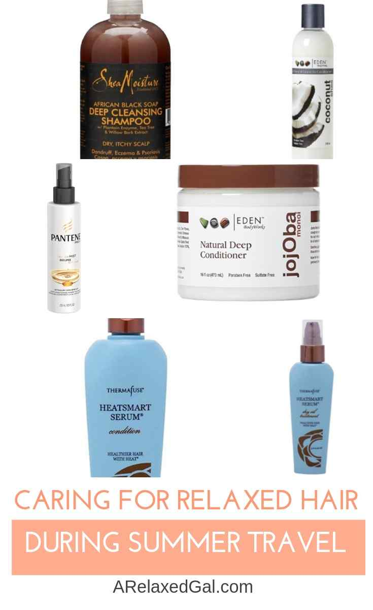 Caring For Relaxed Hair During Summer Travel | A Relaxed Gal