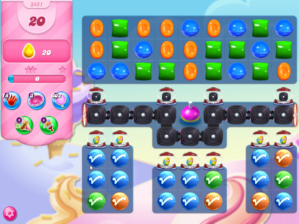 Candy Crush Saga level 3451