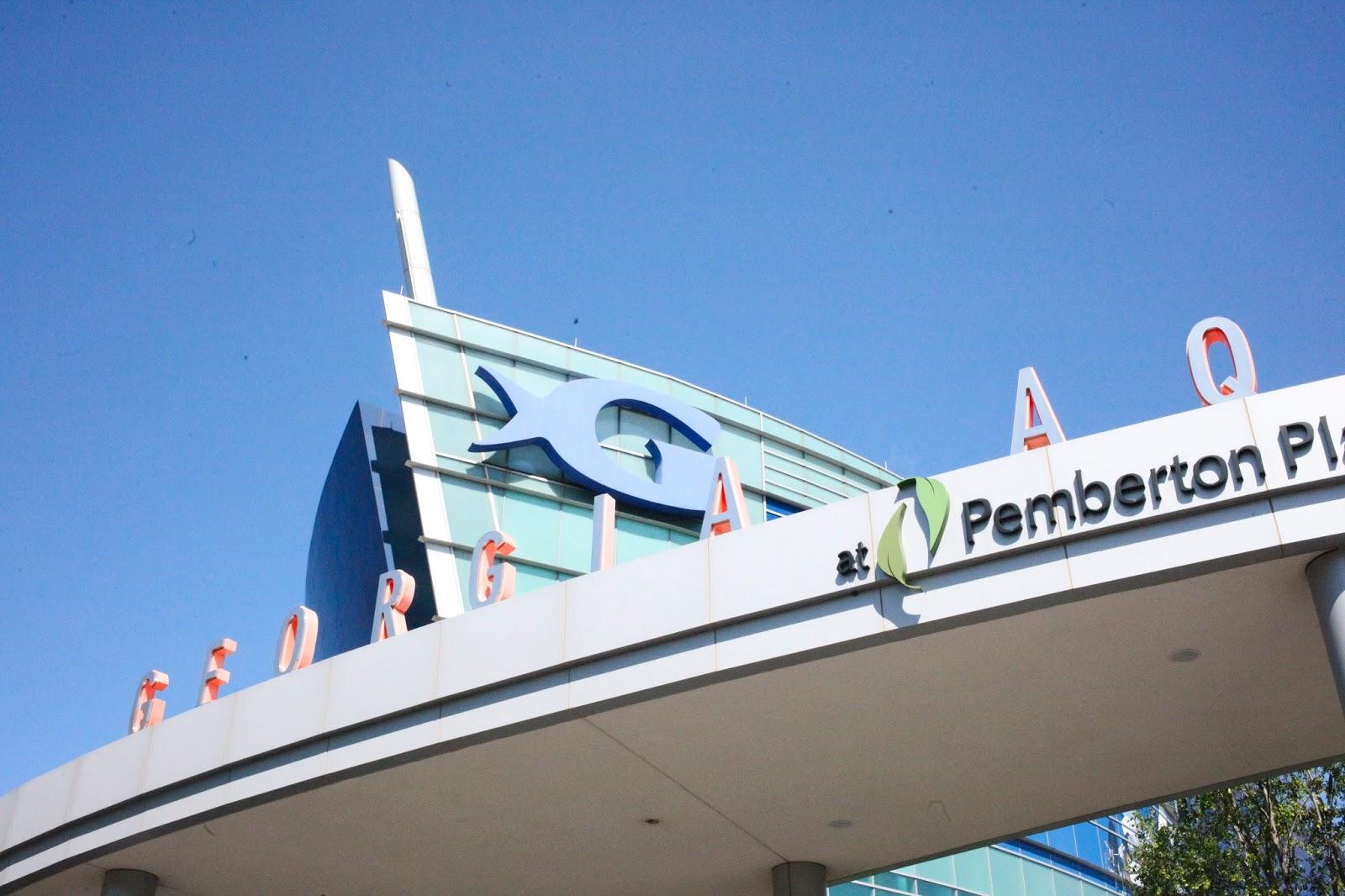 exterior shot of the Georgia Aquarium