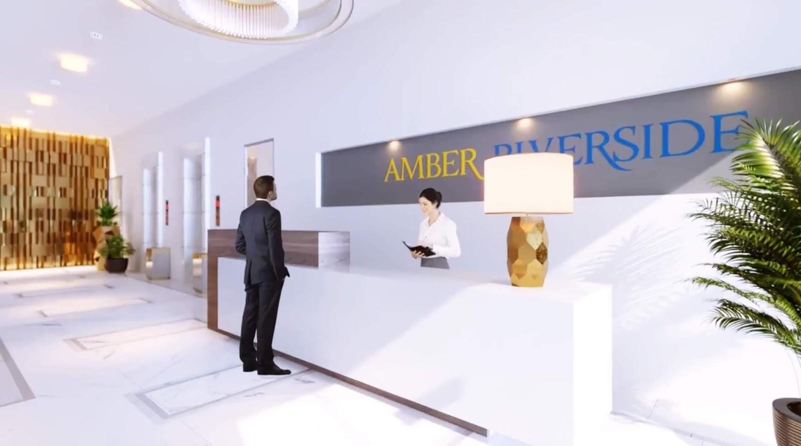 Sảnh đón tiếp cư dân chung cư Amber Riverside