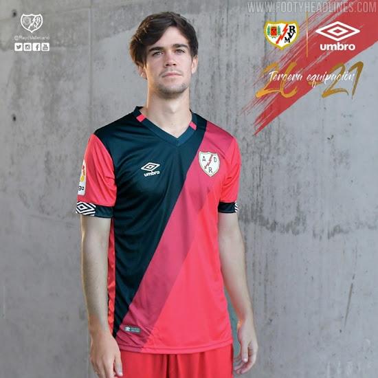 Umbro Rayo Vallecano 20-21 Home, Away & Third Kits Released - No ...