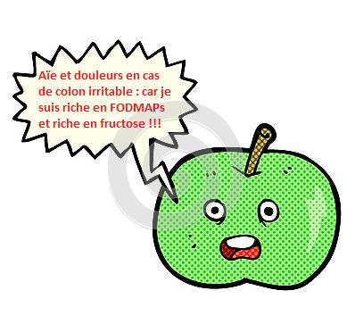 pomme riche en FODMAP et riche en fructose