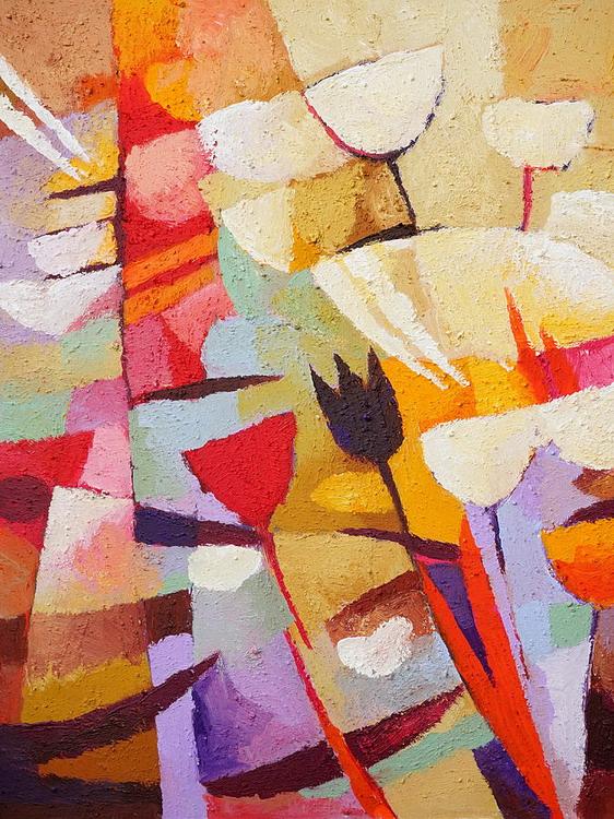 Cuadros pinturas arte cuadros para comedor en formato vertical bien modernos - Cuadros verticales modernos ...