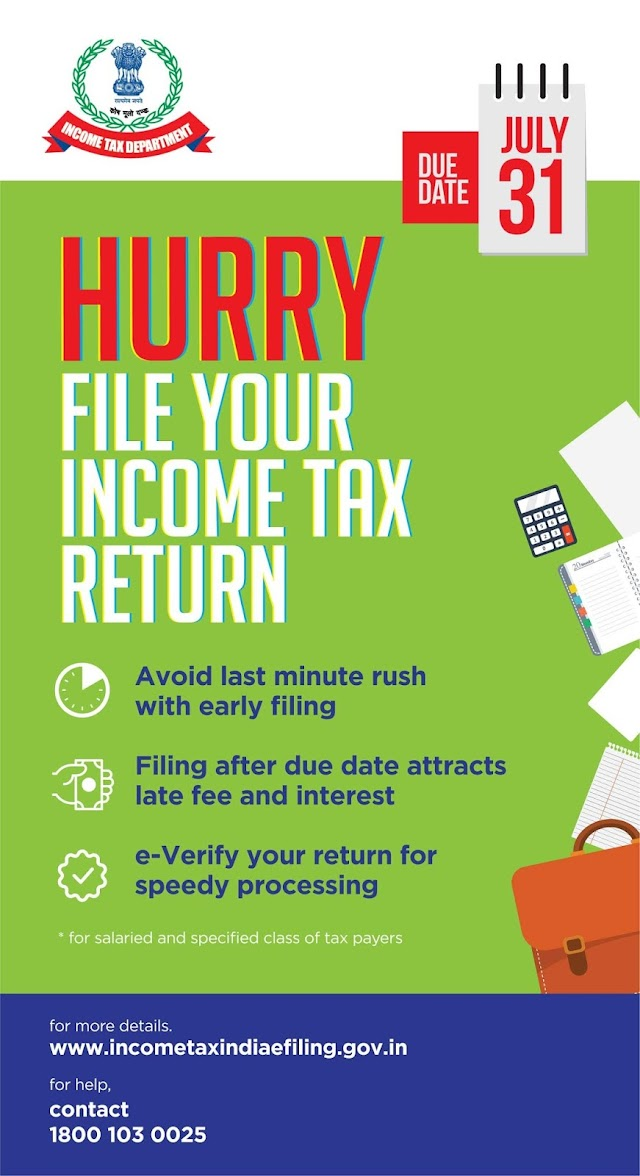 File your ITR before 31st July