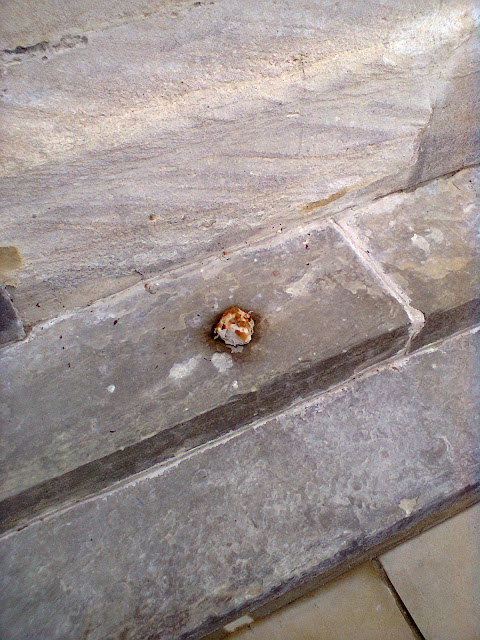 One of the buns sits on a step at the County Hall on Bank Holiday Monday!