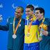 Com prata e bronze, Andre e Phelipe fazem dobradinha nos 100m livre
