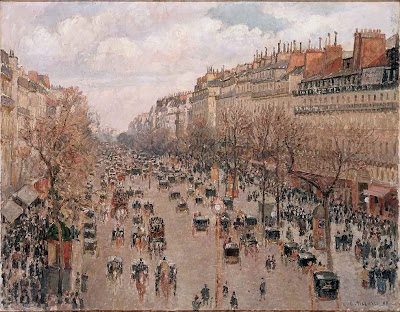 Boulevard Montmartre de Camille Pissarro