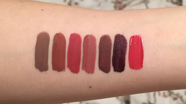 Kylie Cosmetics Holiday Collection 2016 swatches