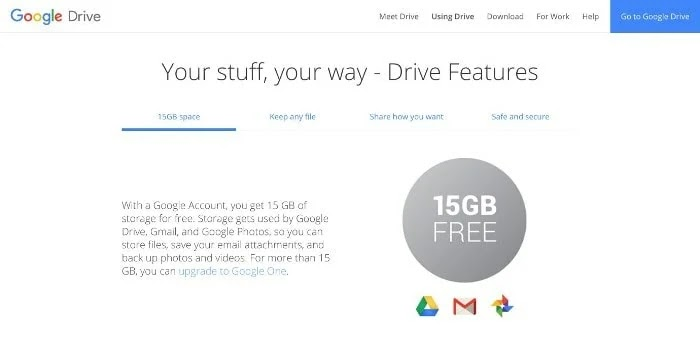 Google Drive Cloud Storage Services