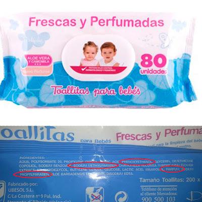 las peores toallitas del mercado para bebé mercadona deliplus ingredientes nocivos blog mimuselina