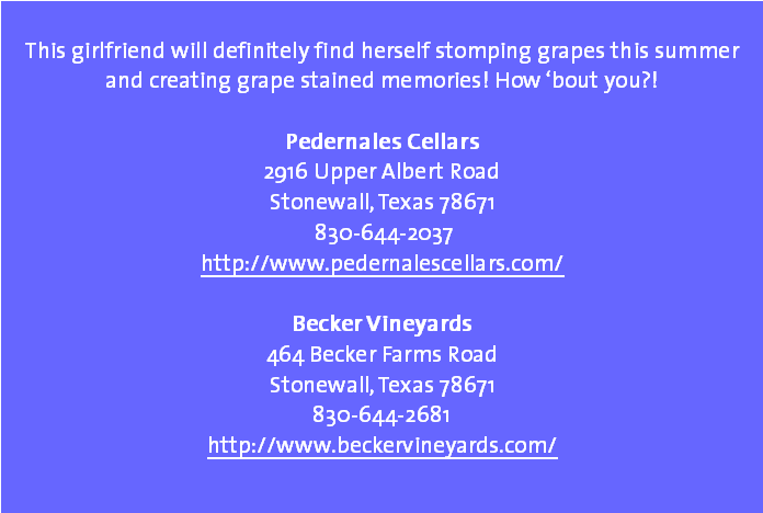 Texas Hill Country Girlfriends Grape Stompin Fun In The