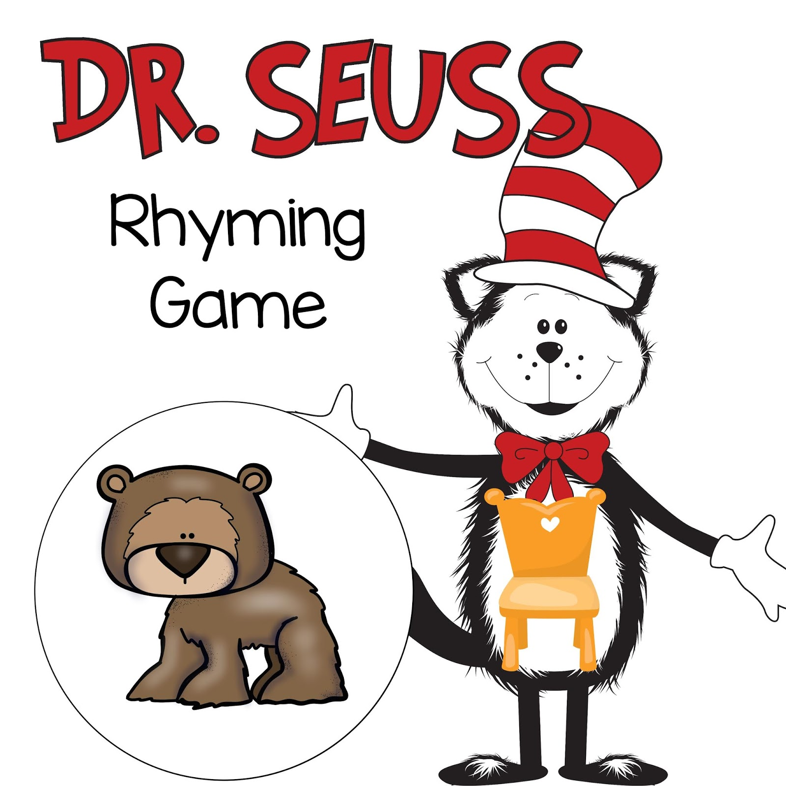 The Cozy Red Cottage Dr Seuss Rhyming Game