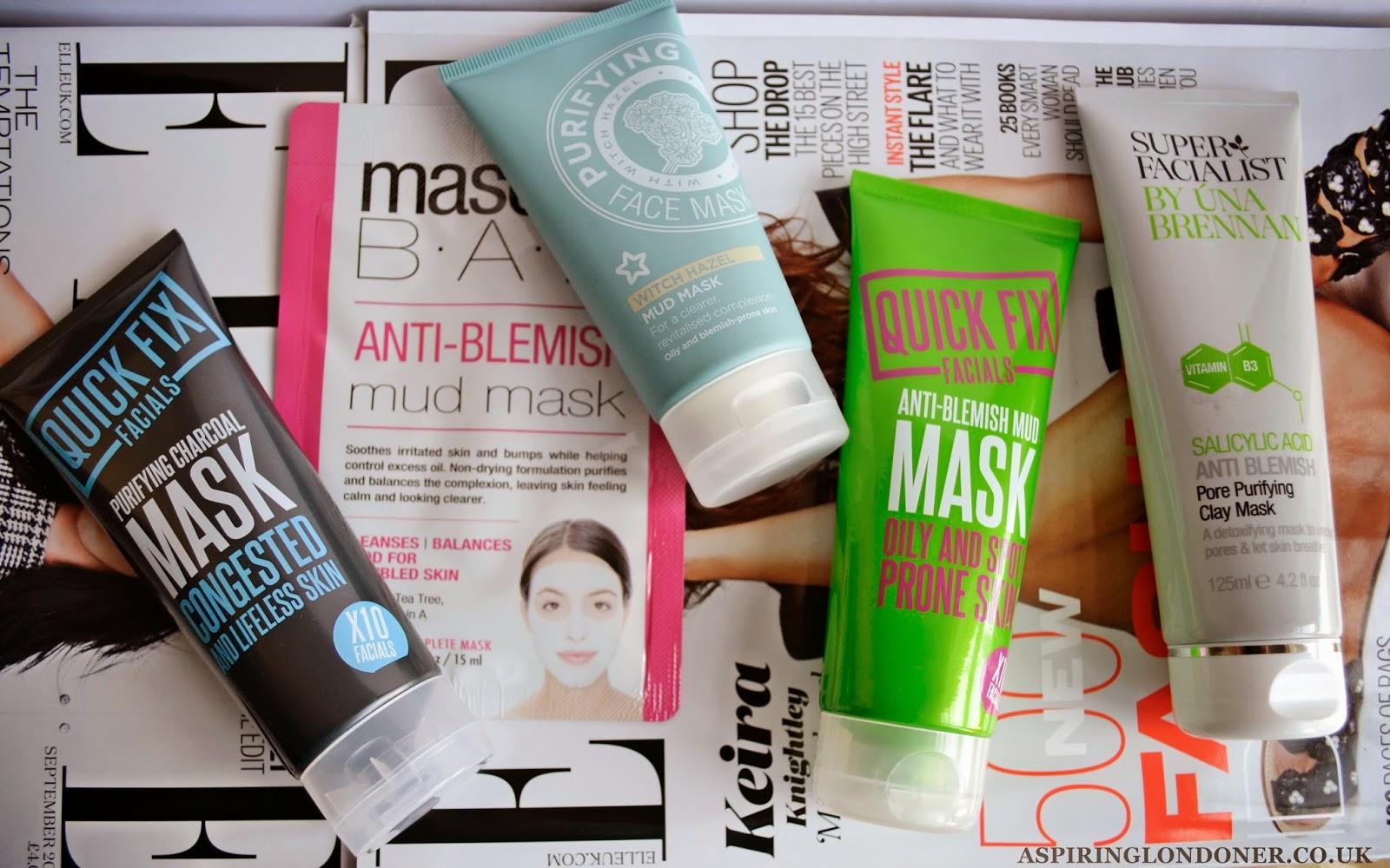 Facial masks for oily acne skin