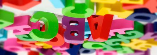 Letras del abecedario de diferentes colores