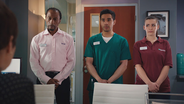 BBC, Casualty, episode review, series 32, episode 40, Noel, Rash, Gem, Tony Marshall, Neet Mohan, Rebecca Ryan