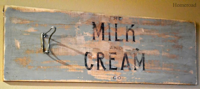 Distressed Milk and Cream Sign