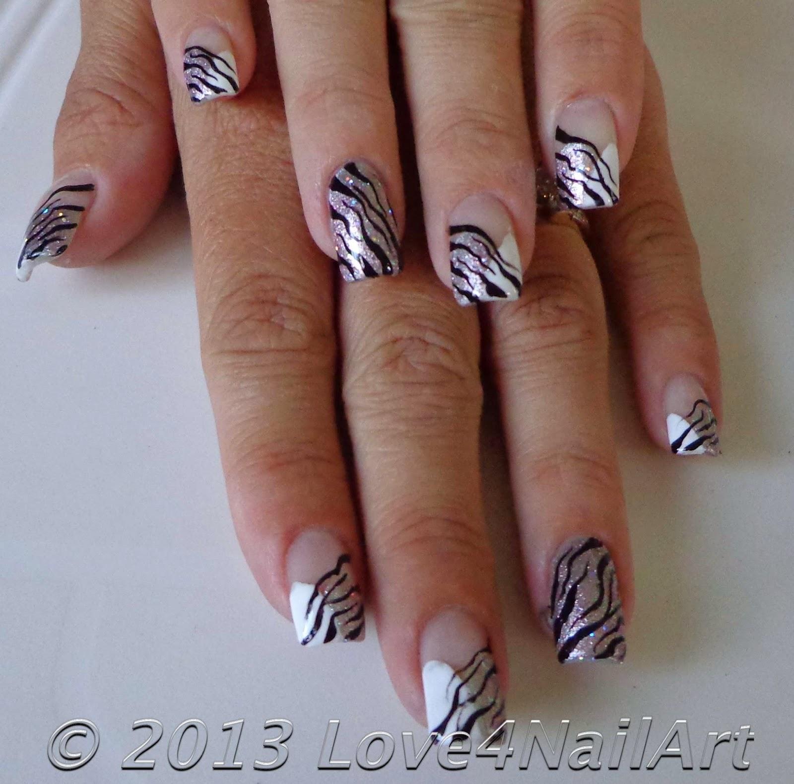 Love4NailArt: Simple Zebra Nail Art For Short Or Long Nails