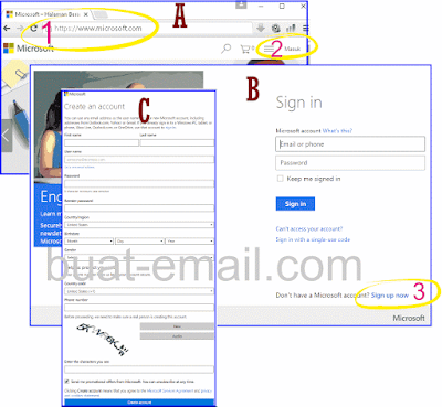 Cara Membuat Email Hotmail / Email Outlook