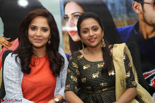 Actress Suma in Black Salwar Suit and Anusuya in orange Dress at winner movie press meet part 2 February 2017 (74).JPG