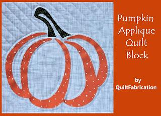 Pumpkin Applique Quilt Block by QuiltFabrication