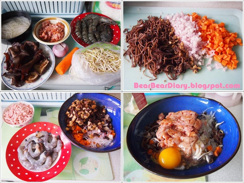 Bear Bear Diary*★*·.¸¸.¤♥: Vietnamese Fried Spring Rolls Vietnamese Fried Spring Rolls Recipe
