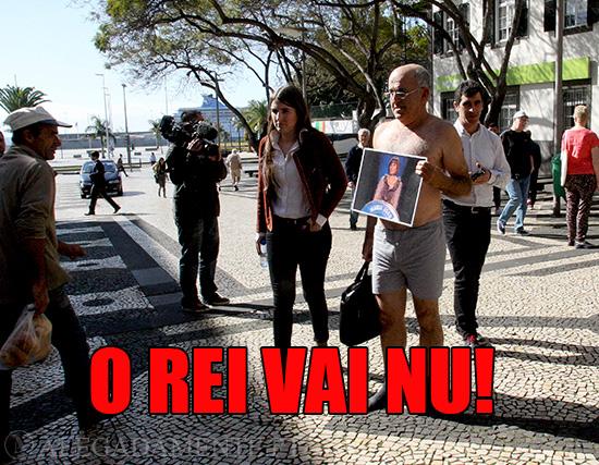 Alegadamente: Imagem de José Manuel Coelho – O Rei vai nu.