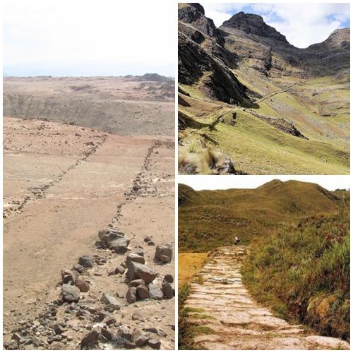 Parte del camino Inca de la sierra