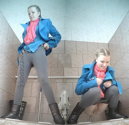 VB Piss 1988-1998 (Spying on amateur girls urinating in the college WC)