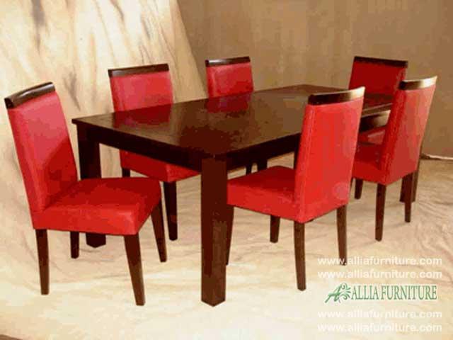 kursi meja makan set minimalis prada